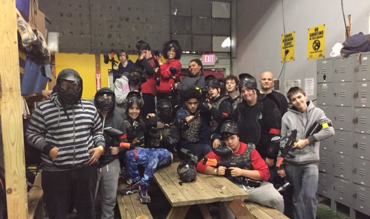 Paintballing with the 100% club!